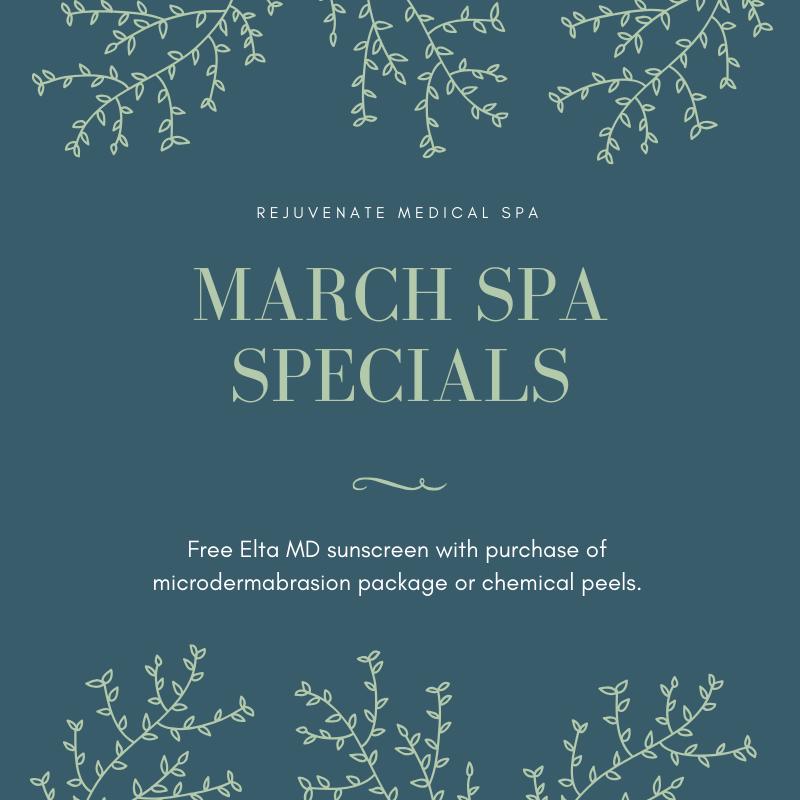 March 2020 spa specials